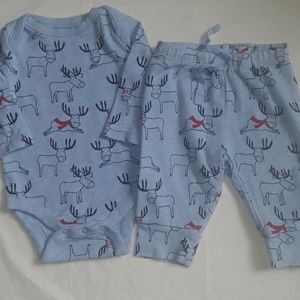 Gap Christmas sleeper outfit 0-3m